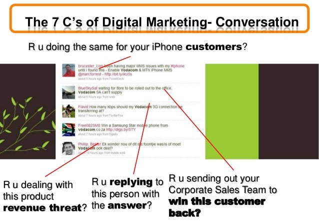 R u doing the same for your iPhone customers? R u sending out your Corporate Sales Team to win this customer back? R u rep...