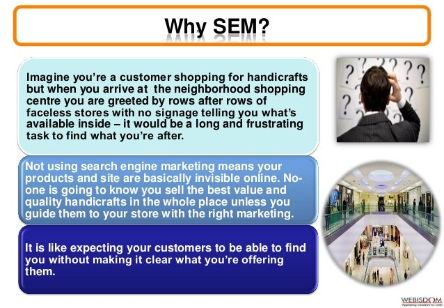 Conclusions- SEM SEM is one of the most professional and popular ways to generate & increase the customer visits to a webs...