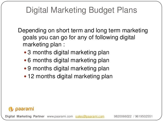 Digital Marketing Budget Planning