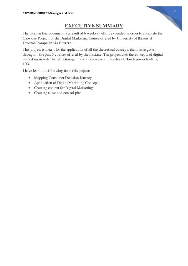 Capstone test plan