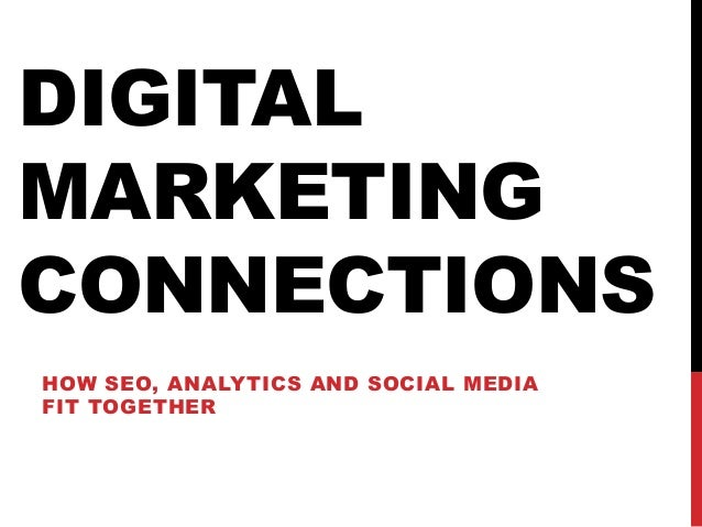 DIGITAL MARKETING CONNECTIONS HOW SEO, ANALYTICS AND SOCIAL MEDIA FIT TOGETHER