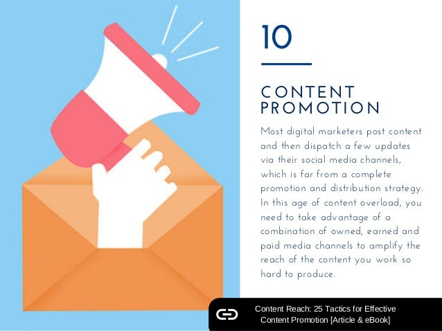 CONTENT PROMOTION 10 Most digital marketers post content and then dispatch a few updates via their social media channels, ...
