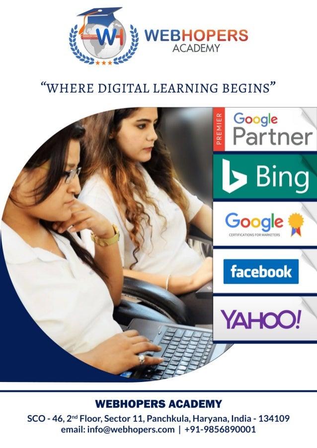 Digital Marketing Course in Chandigarh Syllabus - WebHopers Academy