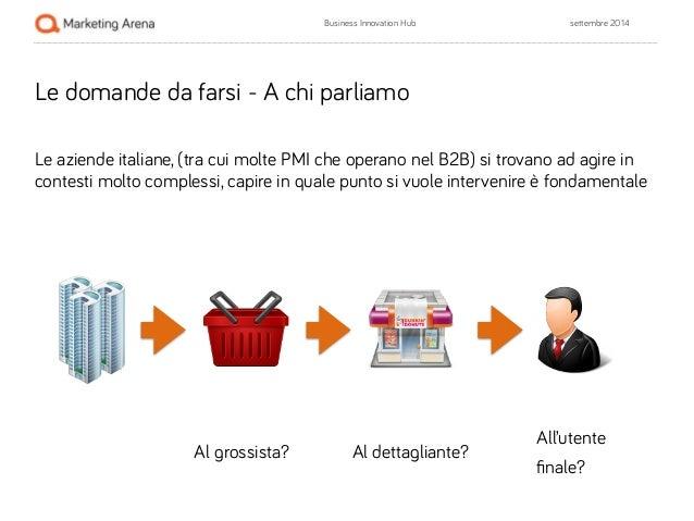 Business Innovation Hub settembre 2014  Le domande da farsi - A chi parliamo  !  Le aziende italiane, (tra cui molte PMI c...
