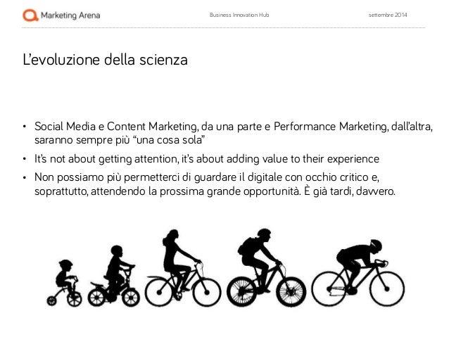 Business Innovation Hub settembre 2014  L'evoluzione della scienza  !  • Social Media e Content Marketing, da una parte e ...