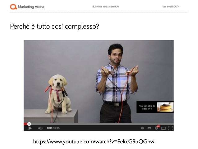 Business Innovation Hub settembre 2014  Perché è tutto così complesso?  https://www.youtube.com/watch?v=EekcG9bQGhw