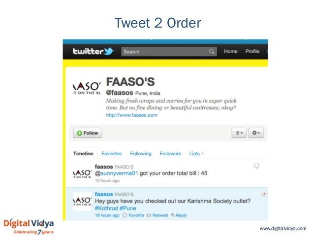www.digitalvidya.com Tweet 2 Order
