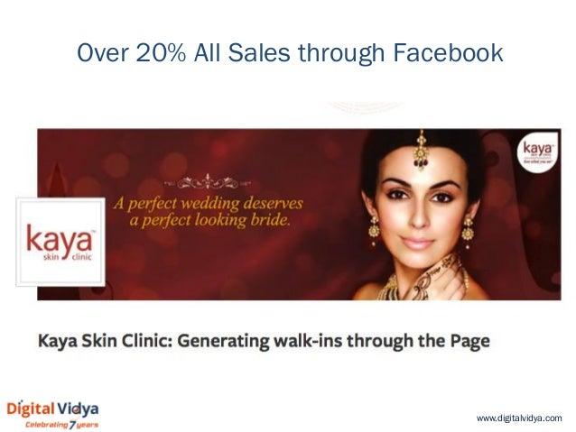 www.digitalvidya.com Over 20% All Sales through Facebook