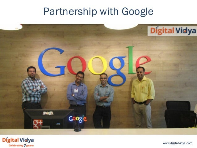 www.digitalvidya.com Partnership with Google