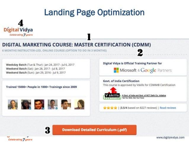 www.digitalvidya.com Landing Page Optimization