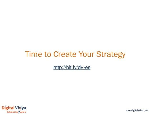 www.digitalvidya.com Time to Create Your Strategy http://bit.ly/dv-es