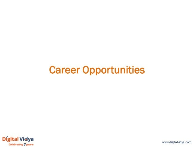 www.digitalvidya.com Career Opportunities