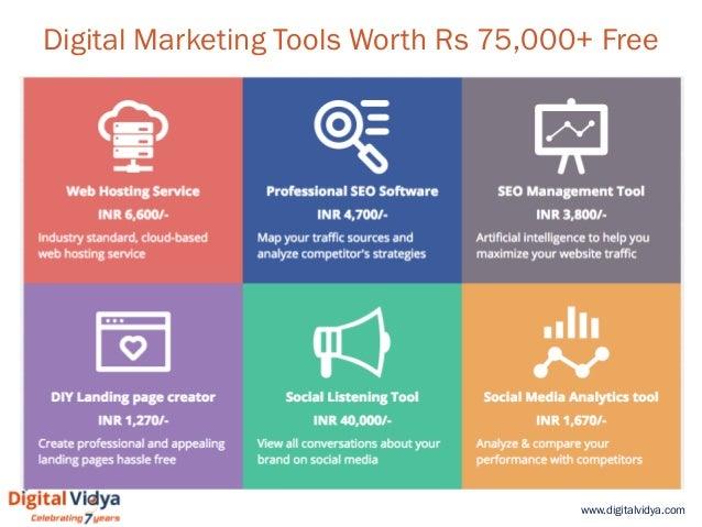 www.digitalvidya.com Digital Marketing Tools Worth Rs 75,000+ Free