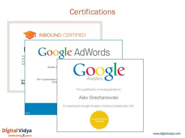 www.digitalvidya.com Certifications