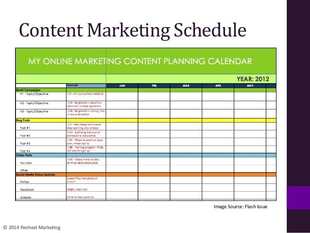 Marketing Schedule  Best Market