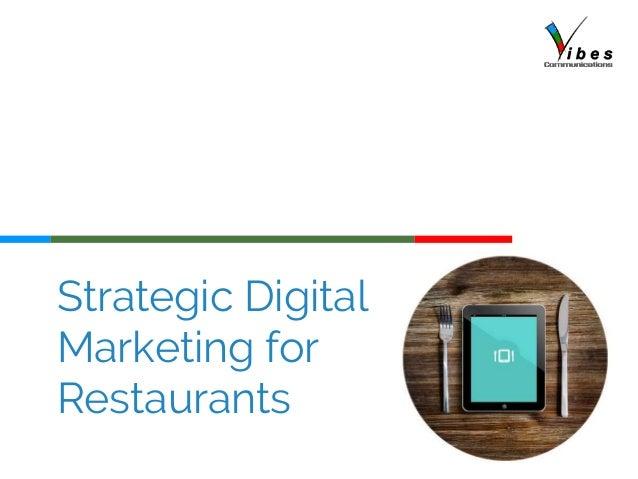 Strategic Digital Marketing for Restaurants