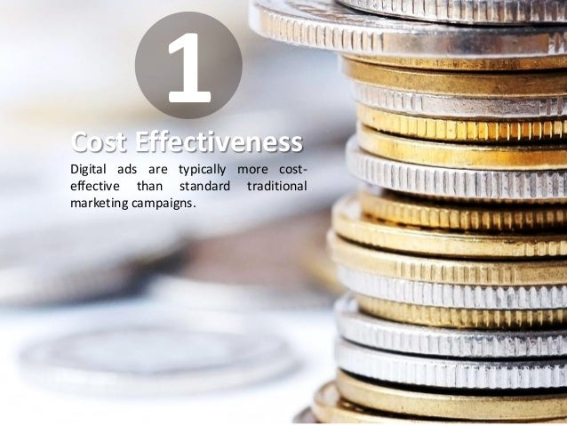 IMFND 2015© Cost Effectiveness Digital ads are typically more cost- effective than standard traditional marketing campaign...