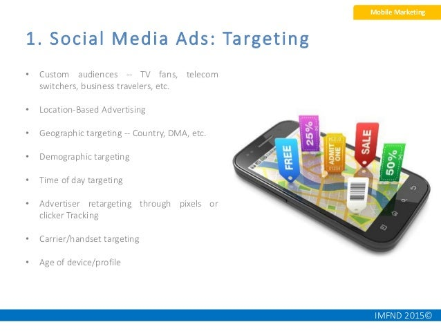 IMFND 2015© • Used for Brand Awareness, Generating Leads and launching new products • Can be used as a mini mobile portal ...