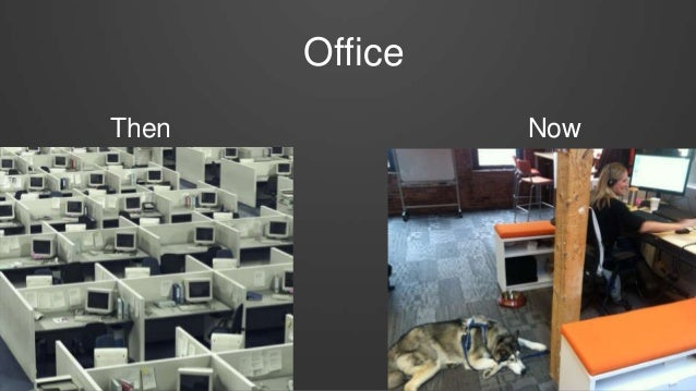 Office Then Now