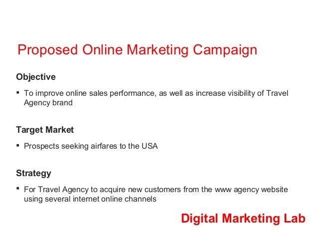 Digital Marketing Lab - Online Travel Agency Marketing Campaign