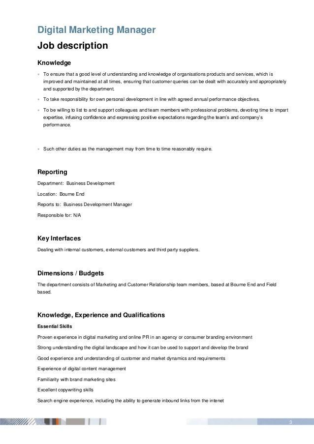 Beautiful Digital Marketing Job Description Ideas - Guide to the ...