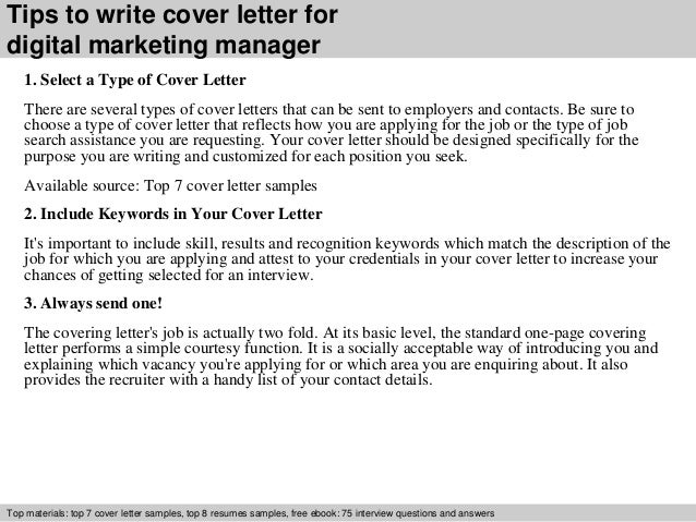 ... 3. Tips To Write Cover Letter For Digital Marketing ...