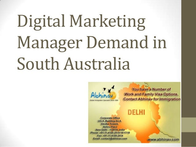Digital Marketing Manager Demand in South Australia