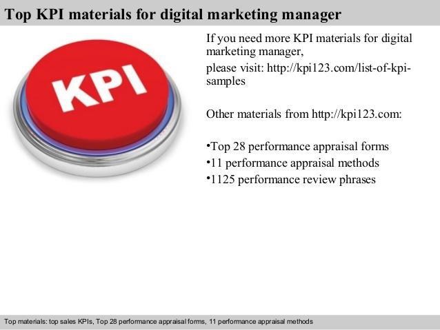 Fabuleux Digital marketing manager kpi AK89