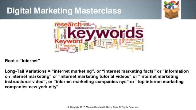 Digital marketing master class session 1