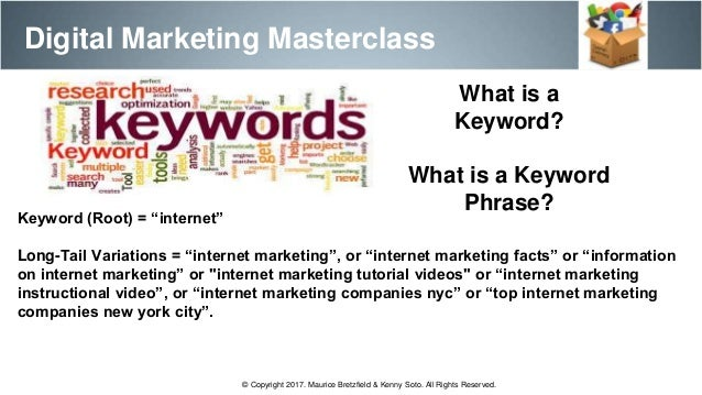 Digital marketing master class session II