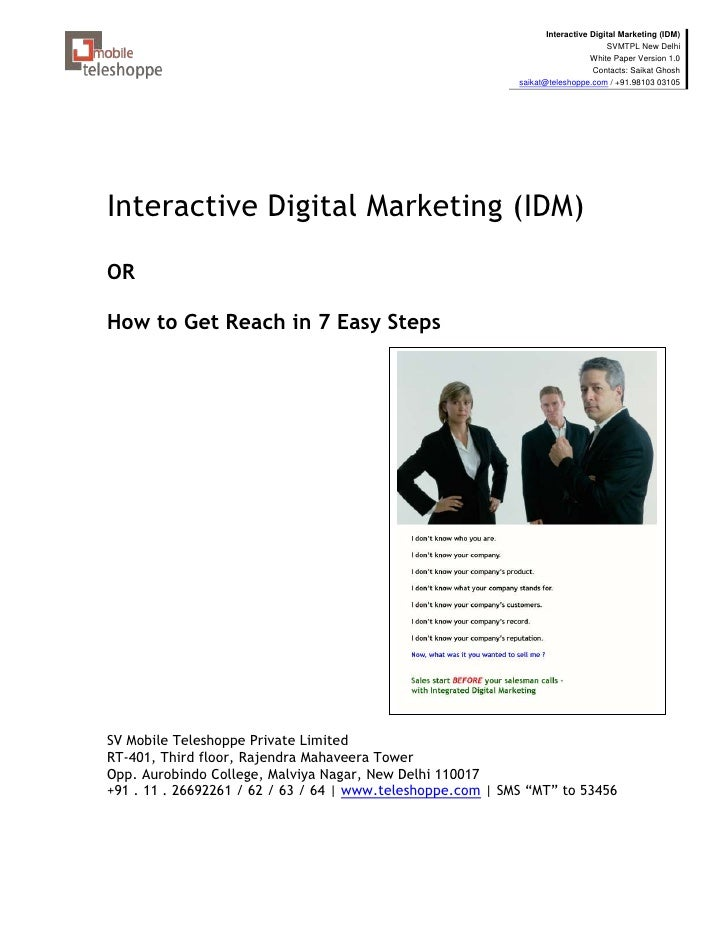 Interactive Digital Marketing (IDM)                                                                                   SVMT...