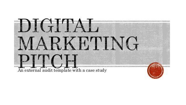 An external audit template with a case study
