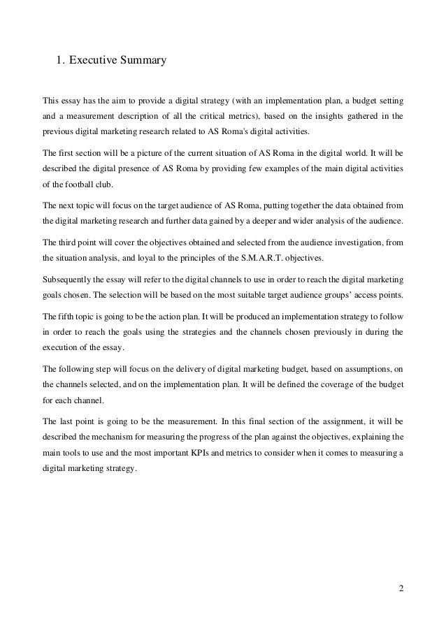 digital marketing essay