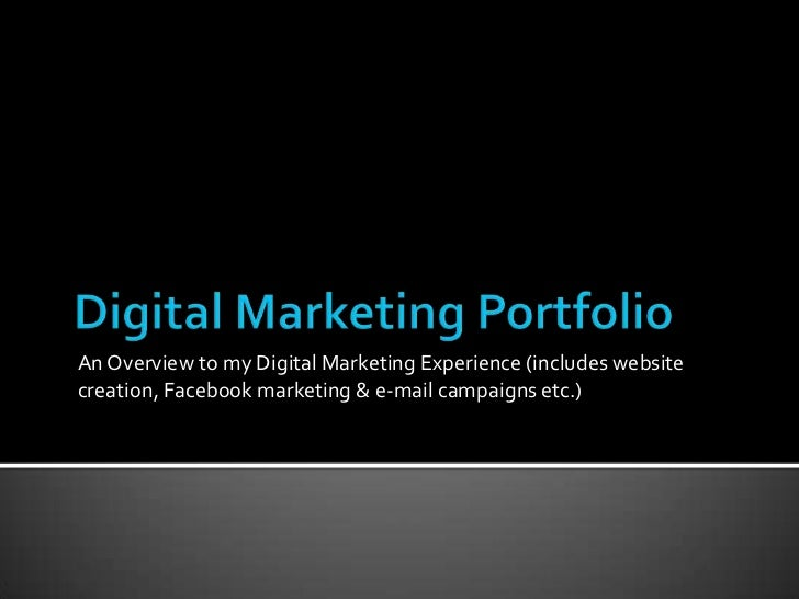 how to create a digital marketing portfolio