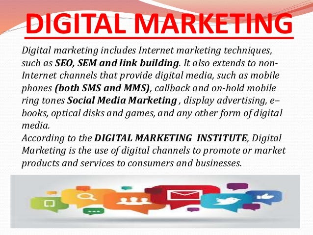 Digital marketing ppt