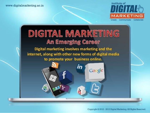 Digital marketing involves marketing and theinternet, along with other new forms of digital media          to promote your...