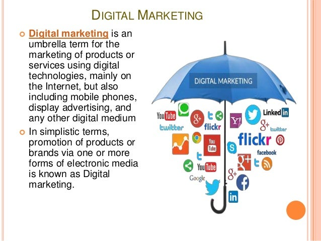 Digital marketing for Digital marketing materials