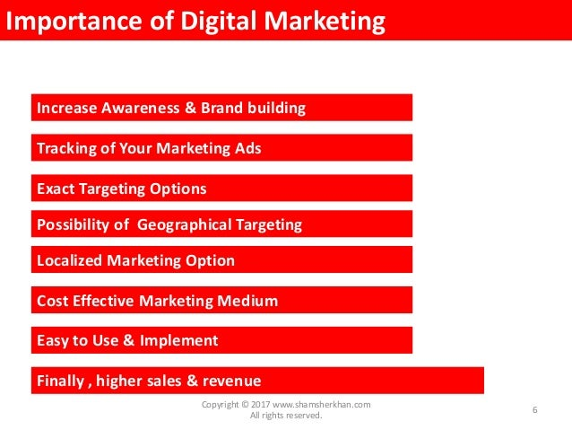 Digital Marketing Workshop Presentation (PPT) by Shamsher Khan slideshare - 웹
