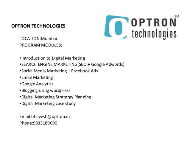 Digital Marketing Course Fees In Mumbai