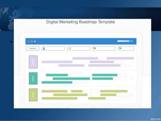 digital marketing roadmap template www hutwork com