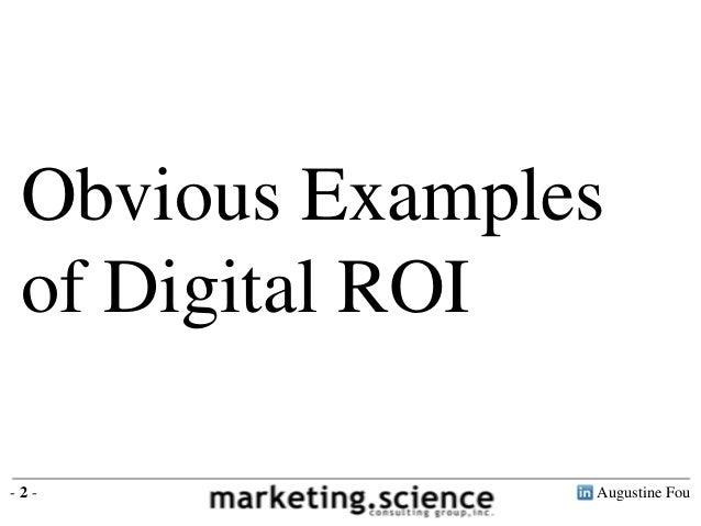Digital Marketing ROI Case Studies by Augustine Fou Slide 2