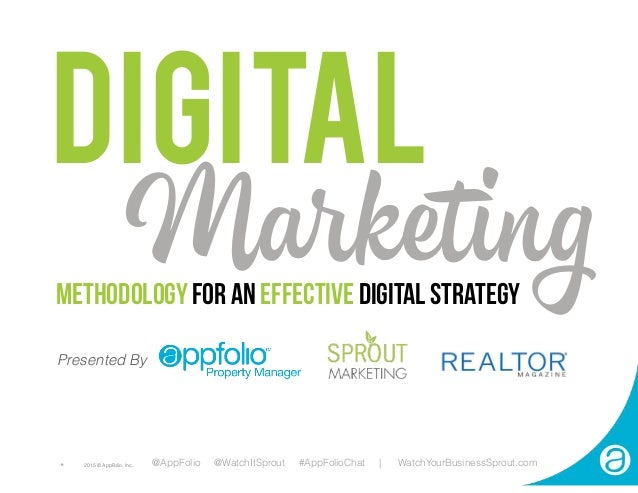 DIGITAL METHODOLOGY FOR AN EFFECTIVE DIGITAL STRATEGY Marketing @AppFolio @WatchItSprout #AppFolioChat | WatchYourBusiness...