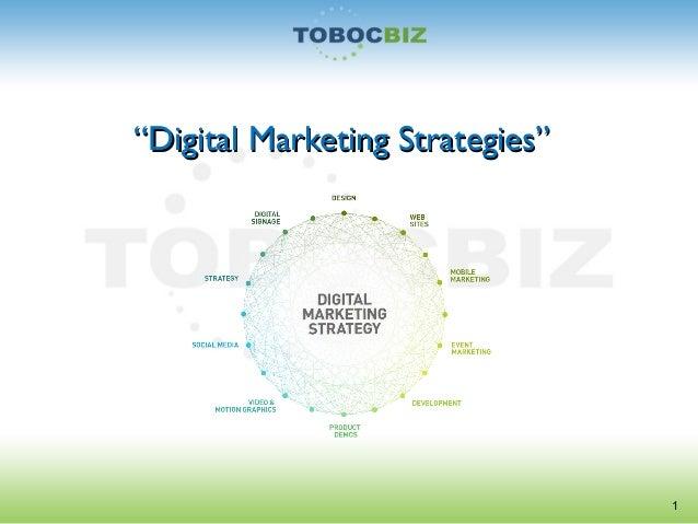 """""""""""Digital Marketing Strategies""""Digital Marketing Strategies""""1"""
