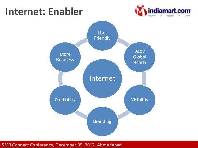 Internet: Enabler  SMB Connect Conference, December 05, 2012. Ahmedabad.