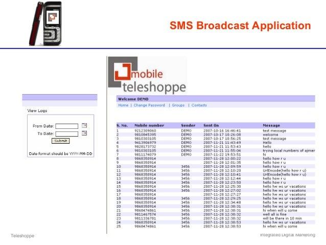 Teleshoppe Integrated Digital Marketing SMS Broadcast Application