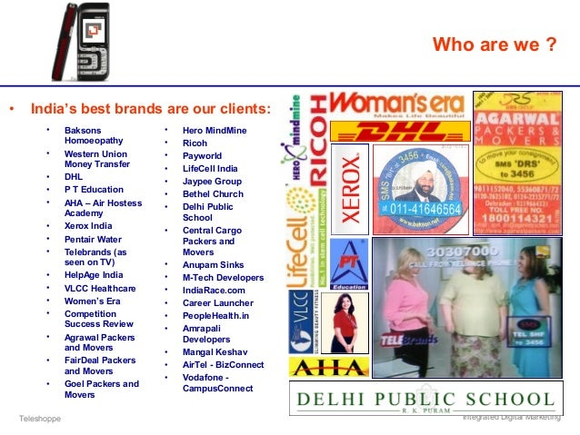Teleshoppe Integrated Digital Marketing • India's best brands are our clients: Who are we ? • Baksons Homoeopathy • Wester...