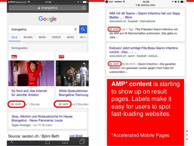 5 AMP* content is starting to show up on result pages. Labels make it easy for users to spot fast-loading websites. *Accel...