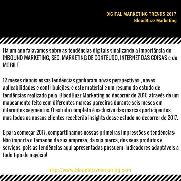 Digital Marketing Trends 2017   BloodBuzz Marketing Slide 2
