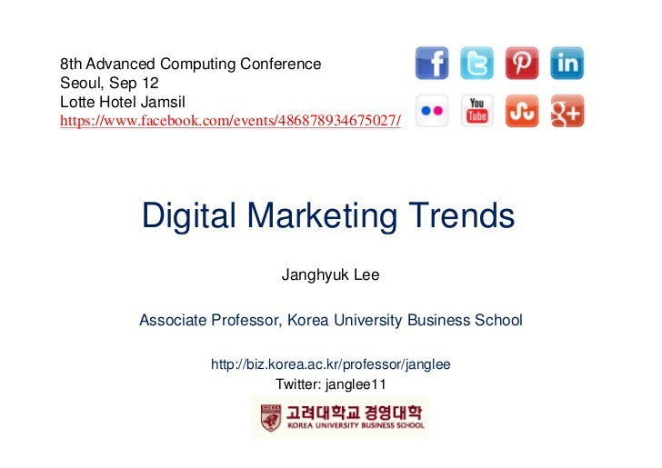 8th Advanced Computing ConferenceSeoul, Sep 12Lotte Hotel Jamsil   phttps://www.facebook.com/events/486878934675027/      ...
