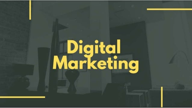 DIGITAL MARKETING is the INTEGRATION OF TECHNOLOGY in your marketing mix to promote brands, generate sales and create rich...